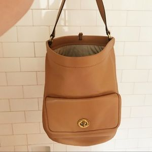 Coach archive leather bucket bag
